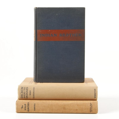 """Fiction Books Including """"Indian Brother"""" by Hubert V. Coryell, 1935"""