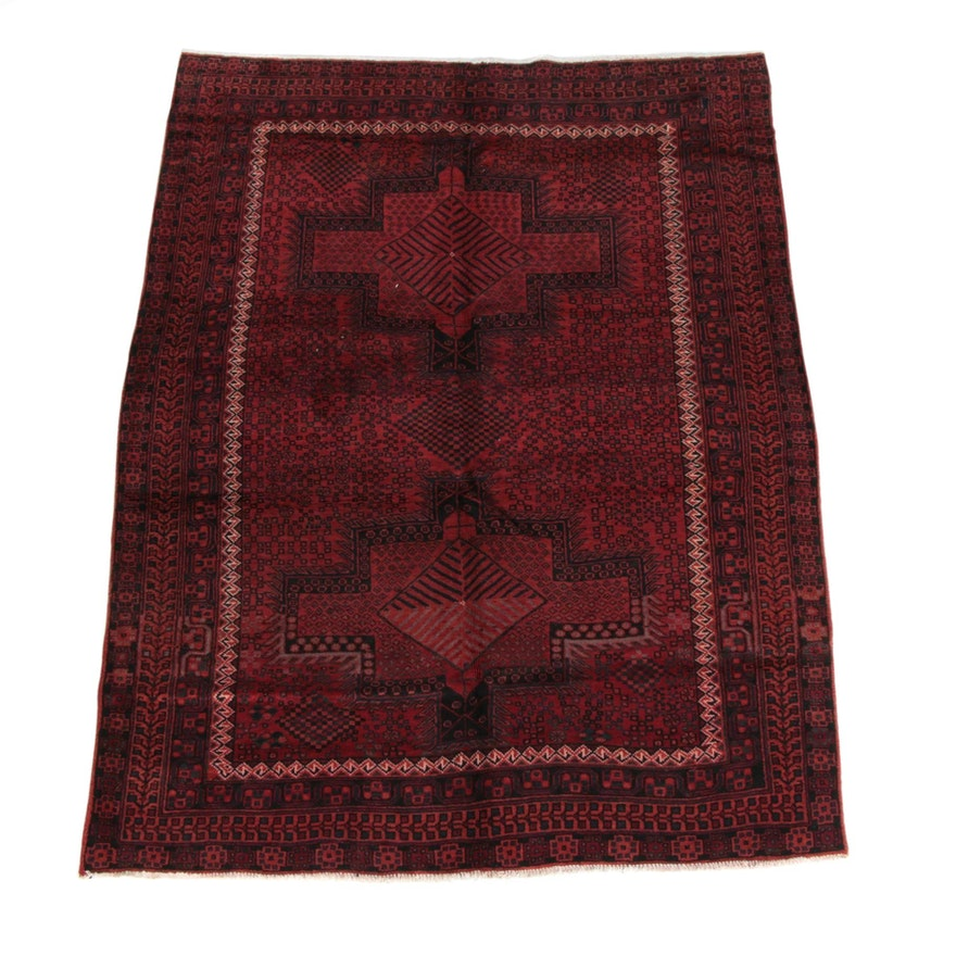 5'3 x 7'4 Hand-Knotted Persian Kelardasht Wool Rug