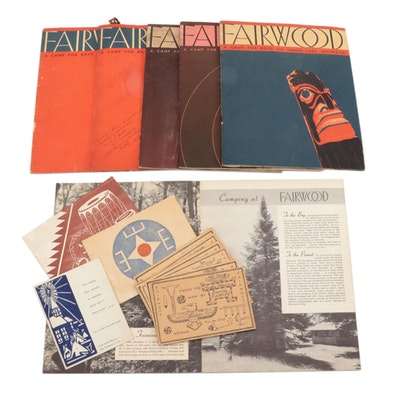 Camp Fairwood On Torch Lake, Michigan, Programs and Ephemera, 1940s