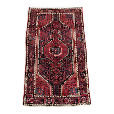 3'8 x 6'8 Hand-Knotted Persian Shiraz Wool Long Rug