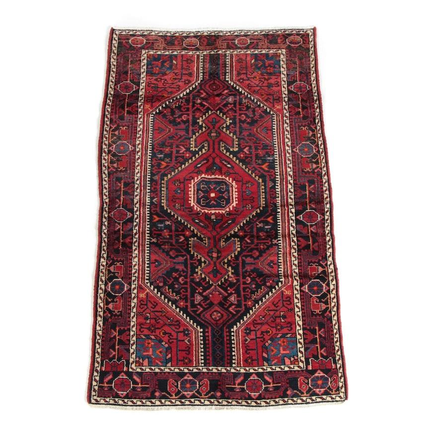 3'8 x 6'8 Hand-Knotted Persian Shiraz Wool Long Rug