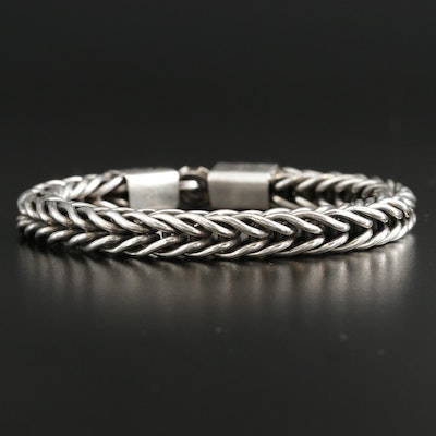 Sterling Silver Wheat Bracelet