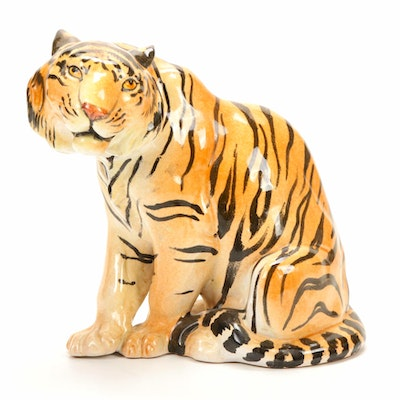 Italian Ceramic Tiger Figurine
