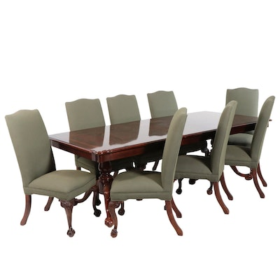 Nine-Piece Thomasville Chippendale Style Mahogany Dining Set