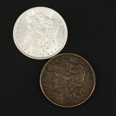1896 and 1899-O Silver Morgan Dollars