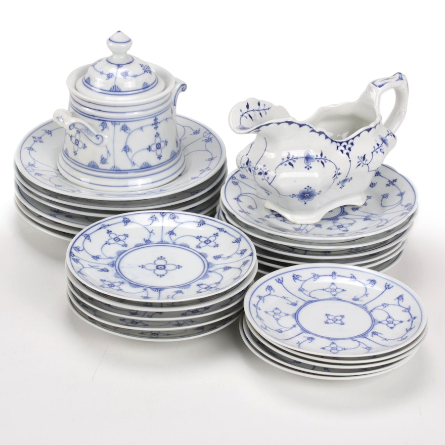 Moschendorf and Other Porcelain Dinnerware, Early 20th Century