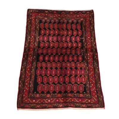 4'1 x 6'4 Hand-Knotted Dated Persian Borujird Wool Rug, 1999