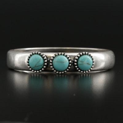 Turquoise Hinged Bangle Bracelet