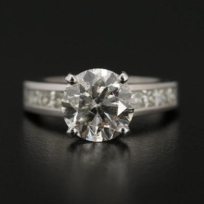 14K White Gold 3.74 CTW Diamond Ring