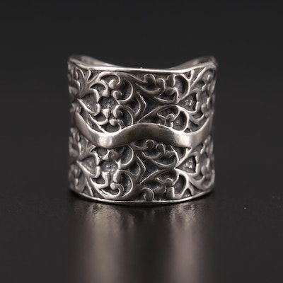 Silpada Sterling Silver Scrollwork Ring