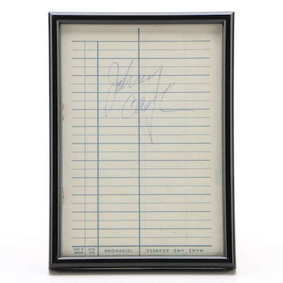 Johnny Cash Cut Signature, Framed   Visual COA