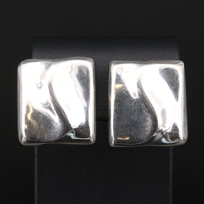 Taxco Sterling Silver Clip-On Earrings