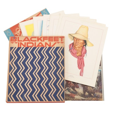 """Blackfeet Indians of Glacier National Park"" Offset Lithographs and Book"