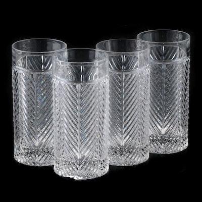 "Ralph Lauren ""Herringbone"" Highball Glasses, 1993 - 2002"