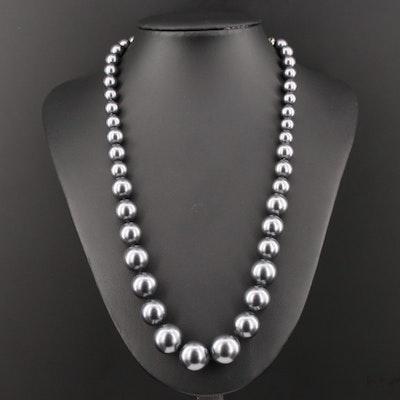 Graduated Imitation Pearl Necklace