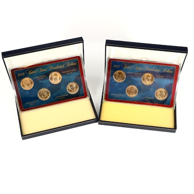Eight Uncirculated Presidential Dollars, 2007 and 2008