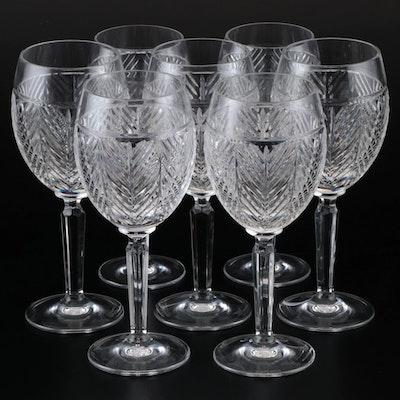 """Ralph Lauren Crystal """"Herringbone"""" Water Goblet,1993-2002"""