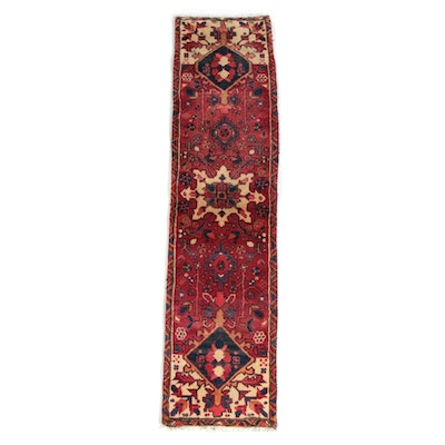 1'7 x 6'9 Hand-Knotted Persian Ahar Wool Carpet Runner