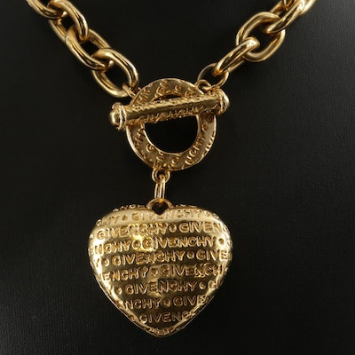 Givenchy Couture Monogram Heart Necklace