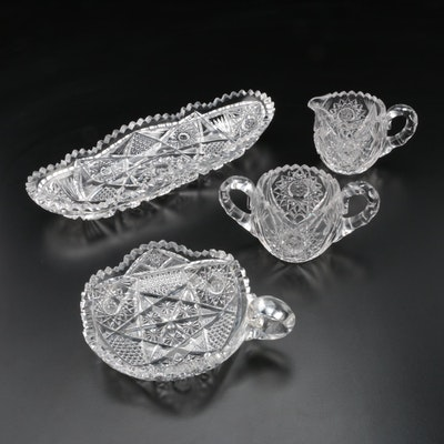 American Brilliant Cut Glass Table Serveware
