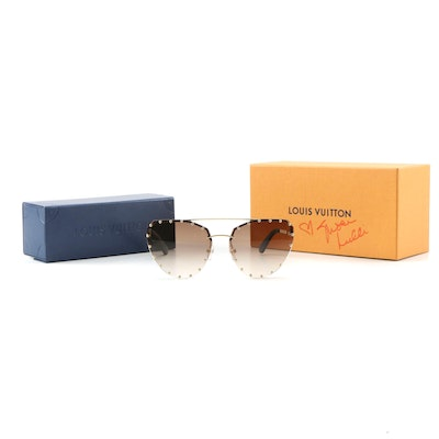 Louis Vuitton Party Studded Rimless Sunglasses with Susan Lucci Signed Box