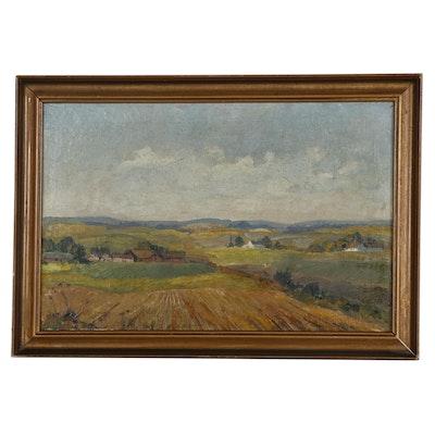 Johan Jacobsen Pastoral Landscape Oil Painting
