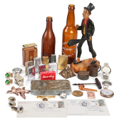 Gentleman's Vanity Accouterments Including Vintage and Antique Pieces