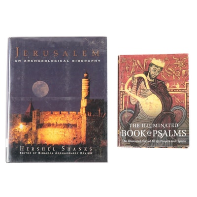 """Jerusalem"" by Hershel Shanks with the Illuminated Book of Psalms"