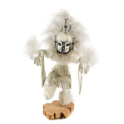 "J.L. Handmade Kachina Doll ""White Cloud"""