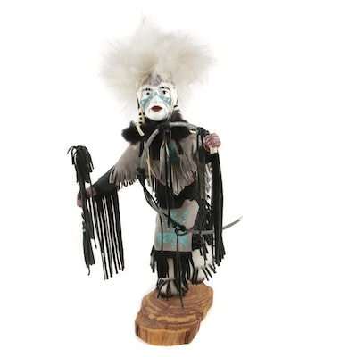 "M.W.B. Hopi Handmade Kachina Doll ""Grass Dancer"""
