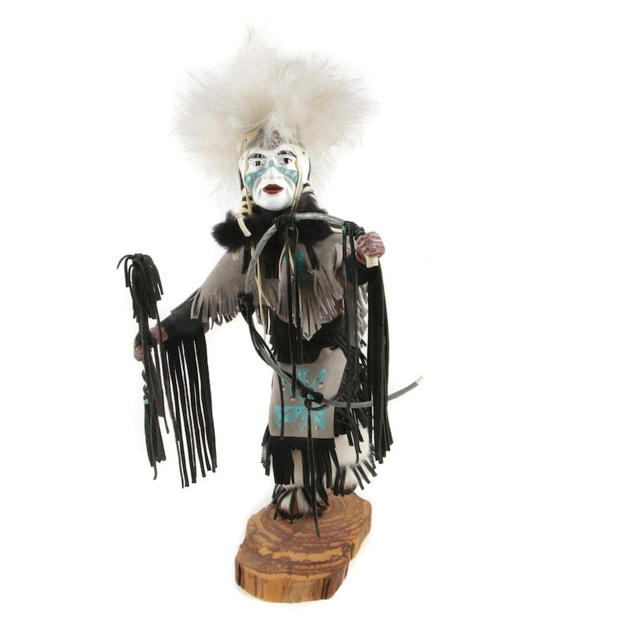 "M.W.B. Hopi Handmade Kachina Doll ""Grass Dancer"""