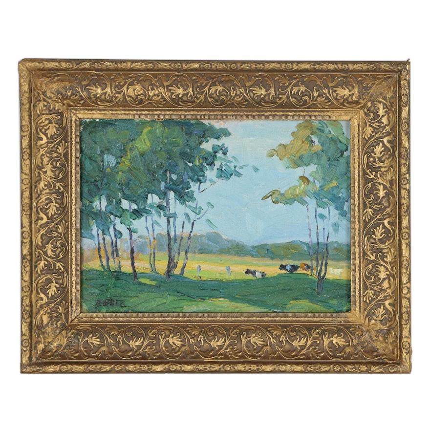 Peter Rotier Landscape Oil Painting