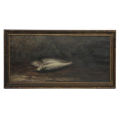 Oil Painting of Fish, Early 20th Century