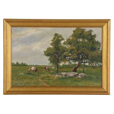 Landscape Oil Painting of Pastoral Scene