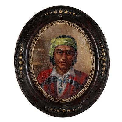Carl Moon Native American Portrait Oil Painting