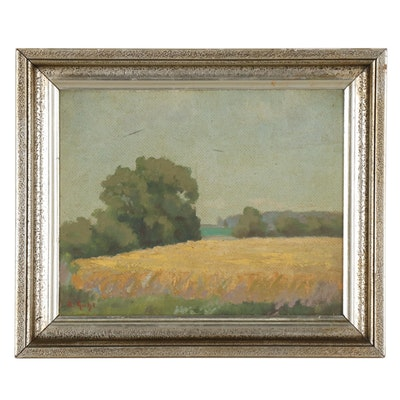 Rudolf Anton Guba Landscape Oil Painting, Early 20th Century