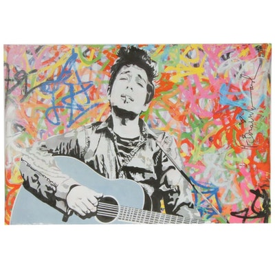 Mr. Brainwash Bob Dylan Offset Lithograph Poster