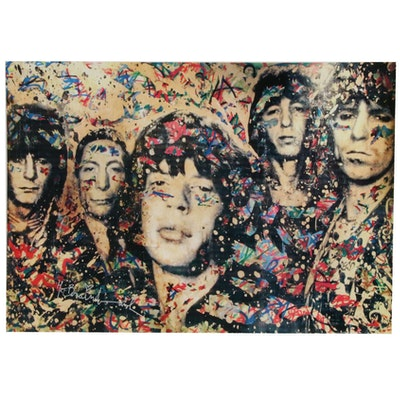 Mr. Brainwash Rolling Stones Offset Lithograph Poster