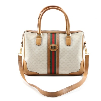 Gucci Boston Bag in Microguccissima Canvas and Leather, Vintage
