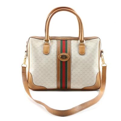 Gucci Boston Bag in Microguccissima Canvas and Leather, Vintage