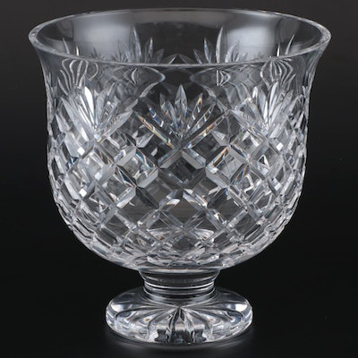 Waterford Cut Crystal Footed Centerpiece Bowl, Late 20th Century