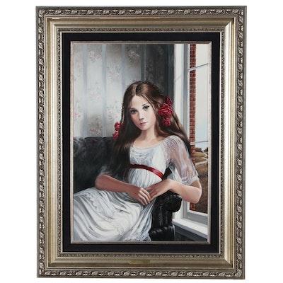 "Pati Bannister Portrait Oil Painting ""Miranda"""