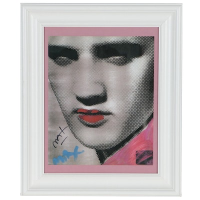 "Offset Lithograph after Peter Max ""This is Elvis"" with Signature"