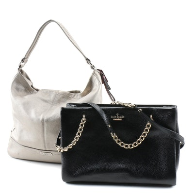 Kate Spade Leather Chain Strap Shoulder Bag and Coach Park Metallic Hobo Bag
