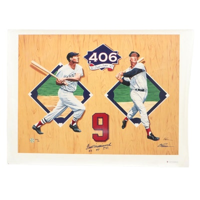 Ted Williams Triple Crown Signed Giclee, Artist Proof 24/42  COA Hologram