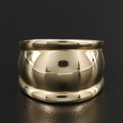 14K Yellow Gold Tapered Ring