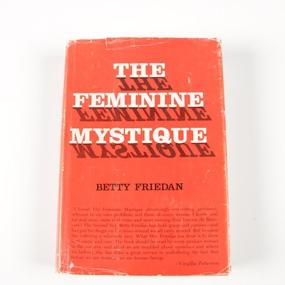 "1963 Early Printing ""The Feminine Mystique"" by Betty Friedan"