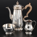 Tiffany & Co. Sterling Silver Demitasse Set with Creamer and Sugar, 1956–1965