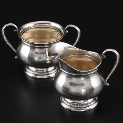 "International Silver ""Prelude"" Mini Creamer and Open Sugar"