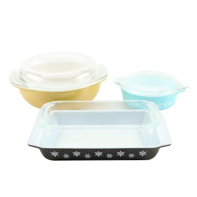 "Pyrex ""Butterprint"" and ""Snowflake"" Bakeware and More"